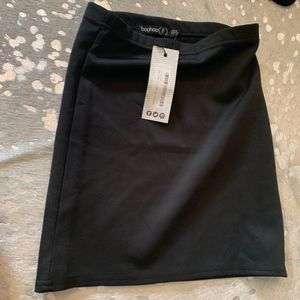 Boohoo Petite Black Skirt Bodycon XS NWT
